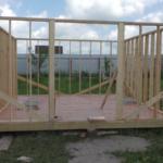 Строительство беседки 4 на 4 с вальмовой крышей, видео 3