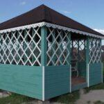 Строительство беседки 4 на 4 с вальмовой крышей, видео 6